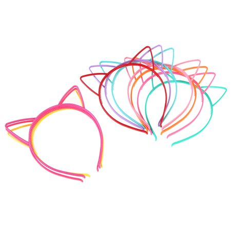 Plastic Ears For Sale (Women Girls's Ear Headband Plastic Bow Hairbands Cat Hairband Cat for Makeup Party Headwear)