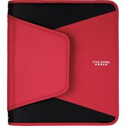 "Mead, MEA72206, 1-1/2"" Round Ring Tech Zipper Binder, 1 Each, Red"