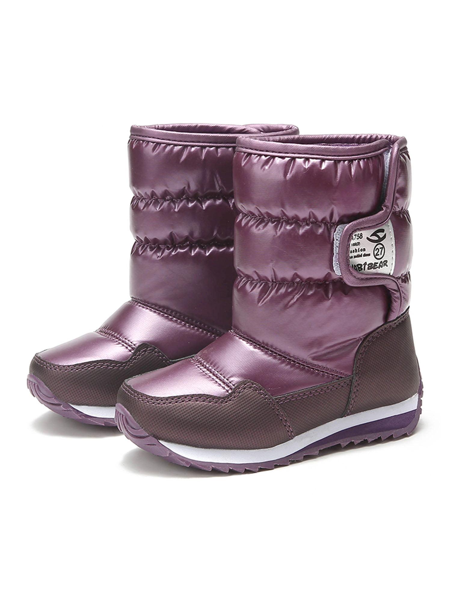 Waterproof Kids Snow Boots Warm Faux Fur Winter Shoes for Boys Girls Outdoor  Anti-slip Children's Winter Boots Gift - Walmart.com - Walmart.com
