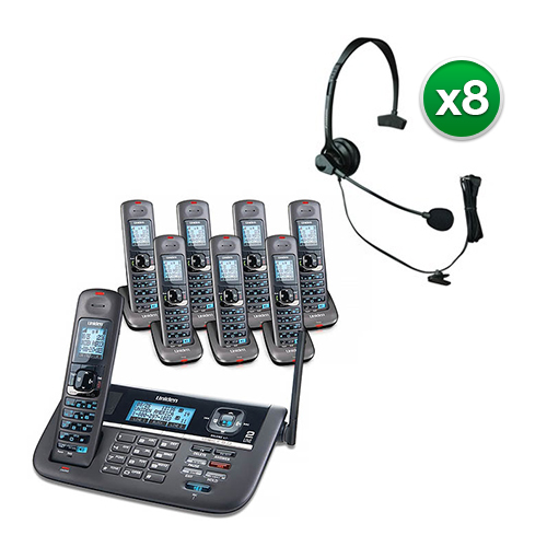 Uniden DECT4086-8 w  Headset DECT 6.0 2 Line Cordless Phone System by Uniden