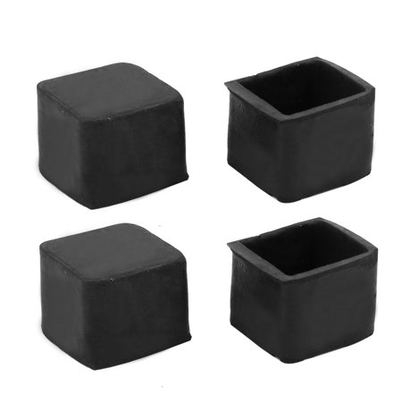 20mmx20mm Rubber Chair Leg Floor Protectors Table Feet Tips Covers Caps 4pcs