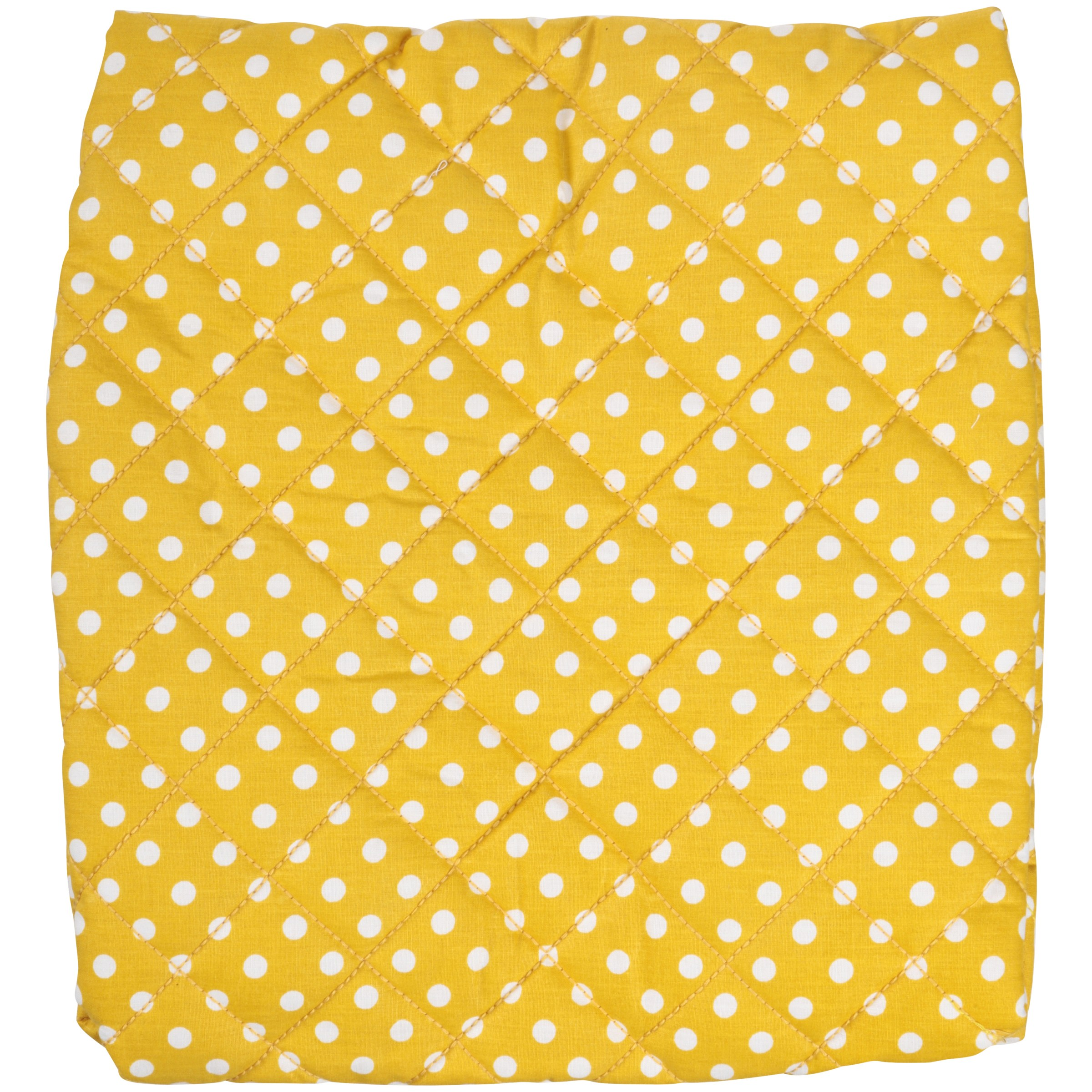 Bacati Yellow Dotted & Pin Stripes Changing Pad Cover