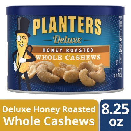 Planters Deluxe Honey Roasted Whole Cashews, 8.25 oz Canister ()
