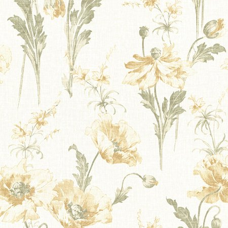 Beacon House Joliet Buttercup Floral Wallpaper Yellow Contemporary Wallpaper