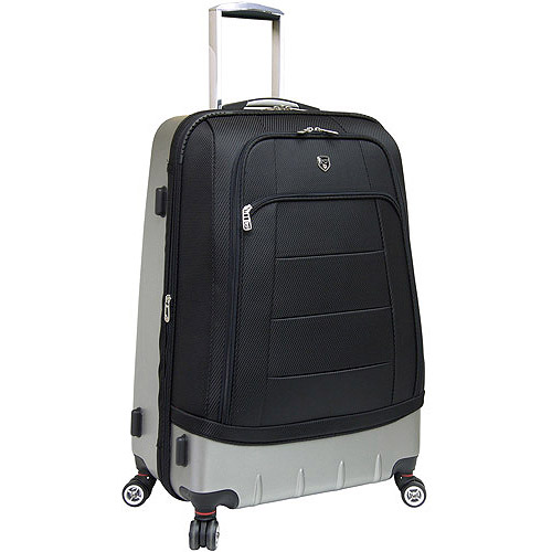 Travelers Club Hybrid Expandable Rolling Upright, Black
