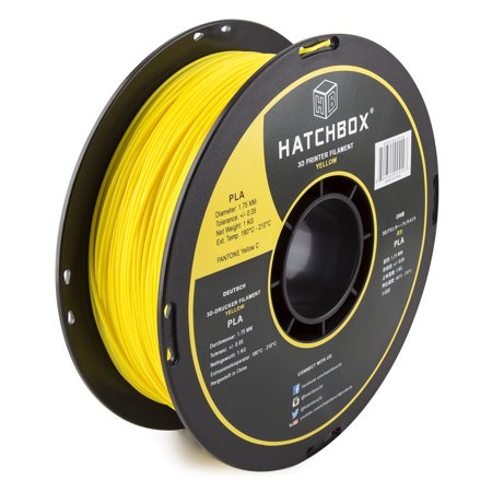 3d Printer Filament >> Hatchbox 3d Pla 1kg1 75 Ylw Pla 3d Printer Filament Dimensional Accuracy 0 05 Mm 1 Kg Spool 1 75 Mm Yellow