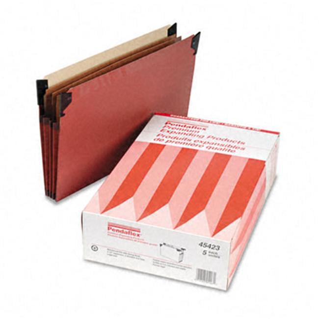 Esselte Pendaflex 45423 3   Cap Hanging File Pockets with Swing Hooks  Manila  Legal  Red  Five per Box