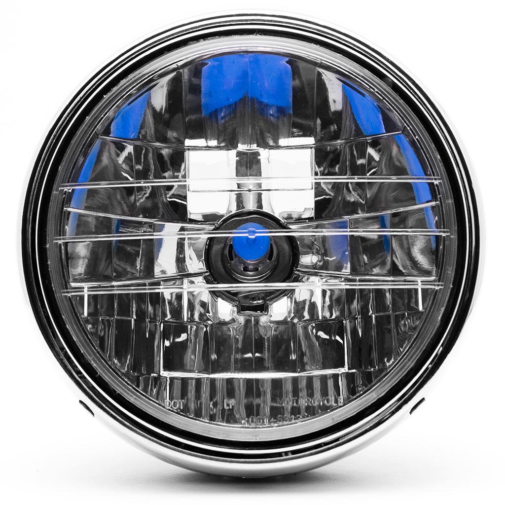 Krator 7.75'' Chrome Headlight H4 Bulb Round Lamp for Victory Cross Roads Jackpot - image 4 of 6