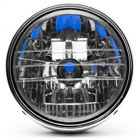 Krator 7.75'' Chrome Headlight H4 Bulb Round Lamp for Victory V92C V92SC V92TC Deluxe Classic - image 4 de 6