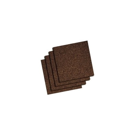 Quartet Modular Dark Cork Tiles, Frameless, 12 x 12 Inch, 4 Count