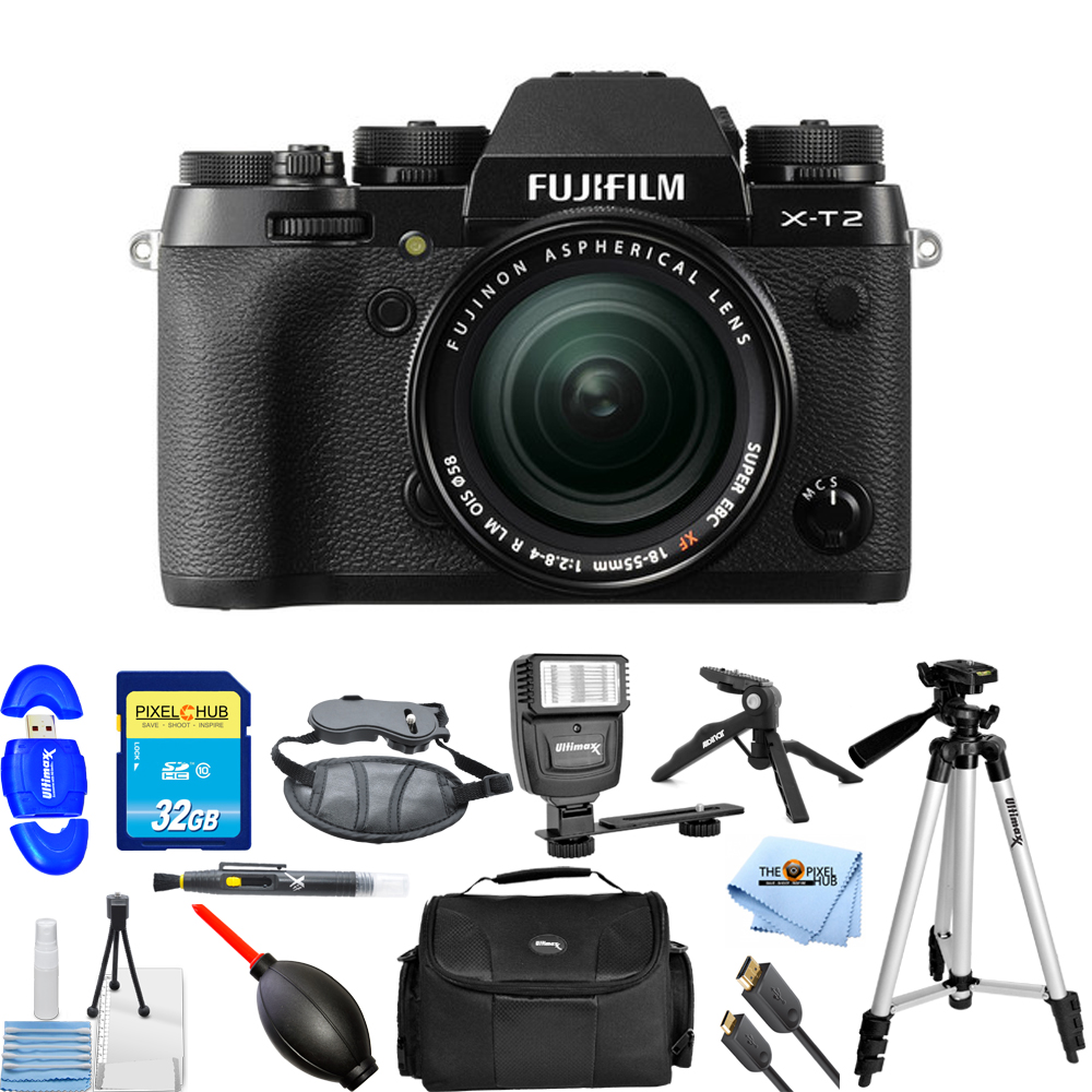 FujiFilm X-T2 Mirrorless Digital Camera with 18-55mm Lens!! PRO KIT BRAND New!! by Fujifilm