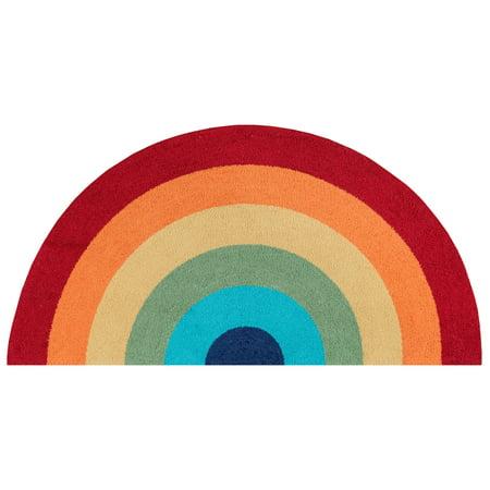 Novogratz by Momeni Cucina Rainbow Polyester Hand Hooked Multi Kitchen Mat 1'5