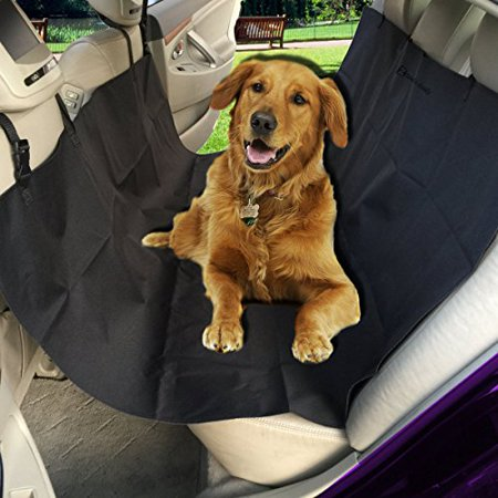 Zento Deals Black Vehicle Pet Hammock and Back Seat Protector with Safety Buckle For Pets