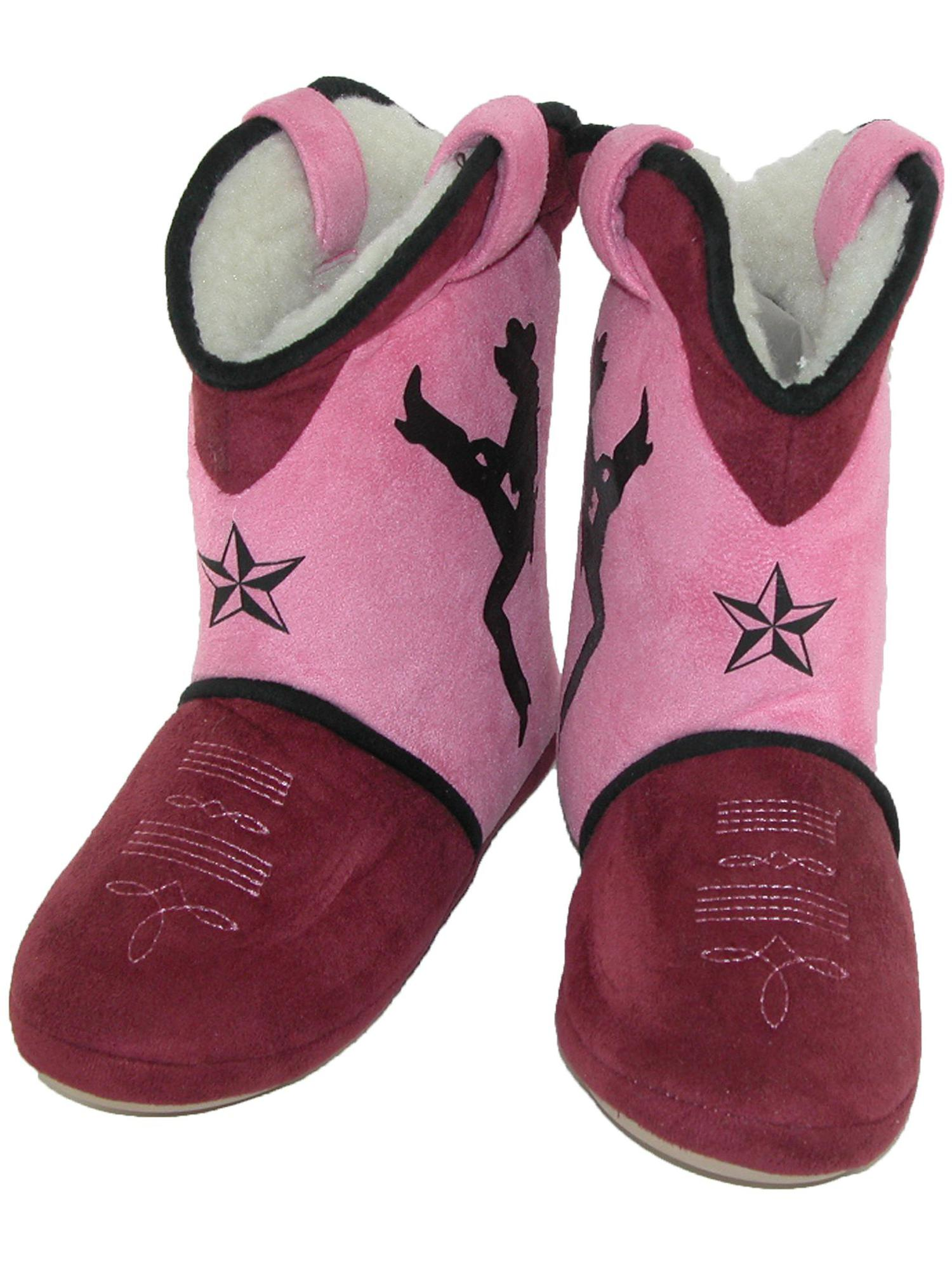 Size Small Women's Dixie Darlin Cowgirl Boot Slippers