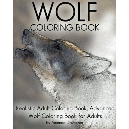 Wolf Coloring Book Realistic Adult Advanced For Adults
