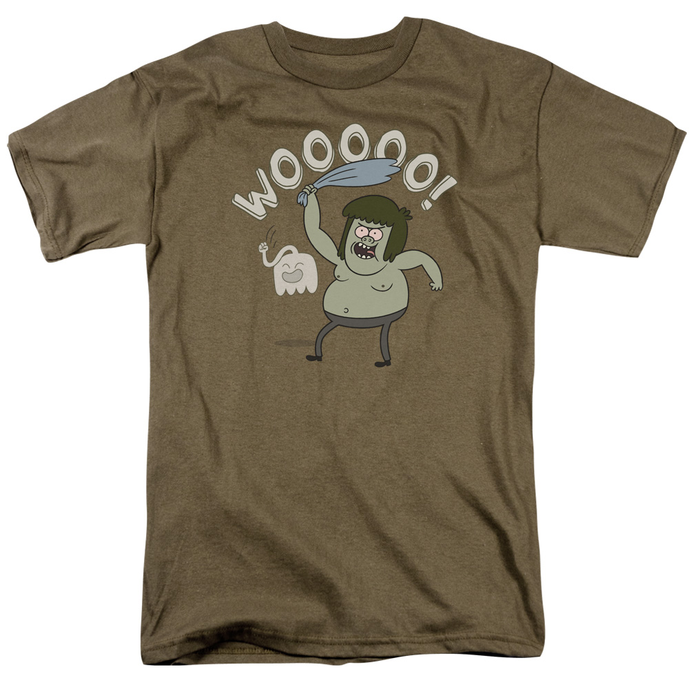 Regular Show Wooooo Mens Short Sleeve Shirt