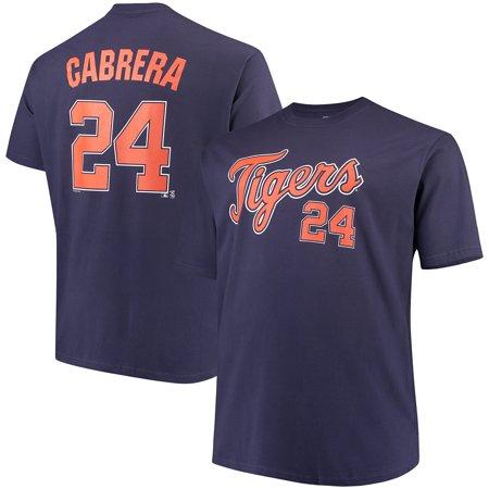 Men's Majestic Miguel Cabrera Navy Detroit Tigers MLB Name & Number - Miguel Cabrera Baseball