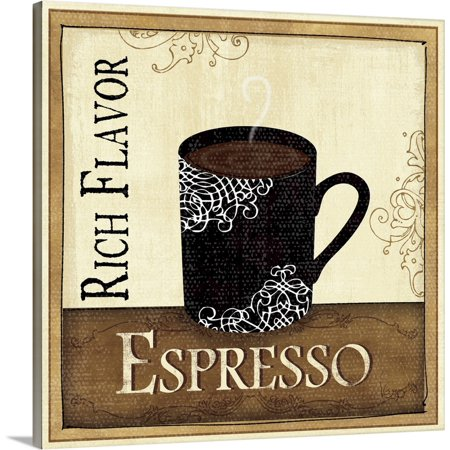 Great BIG Canvas | Veronique Charron Solid-Faced Canvas Print entitled Coffee and Cream III Bag Canvas Coffee