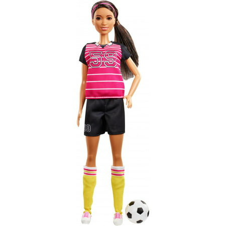 Barbie 60th Anniversary Careers Athlete Doll with Soccer Accessories