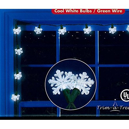 Trim A Tree Indoor/Outdoor Cool White Snowflake LED String Lights, 30 Lights for $<!---->