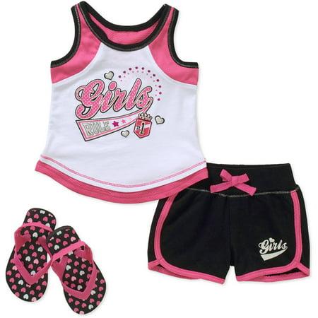 9092efa66 Healthtex - Healthtex Baby Toddler Girl Tank, Shorts - Walmart.com