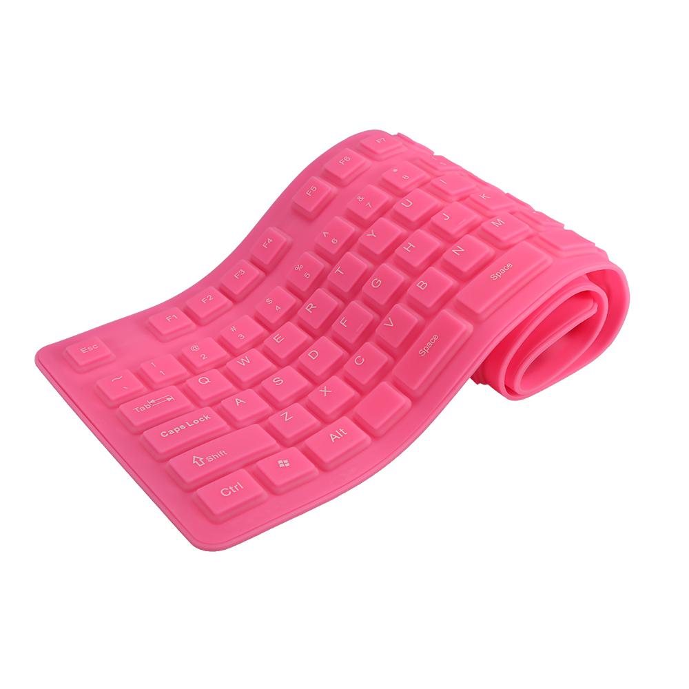 : 108 Keys USB Silicone Flexible Foldable Keyboard Waterproof Dustproof USB Silent Keys For Laptop Desktop Keyboard