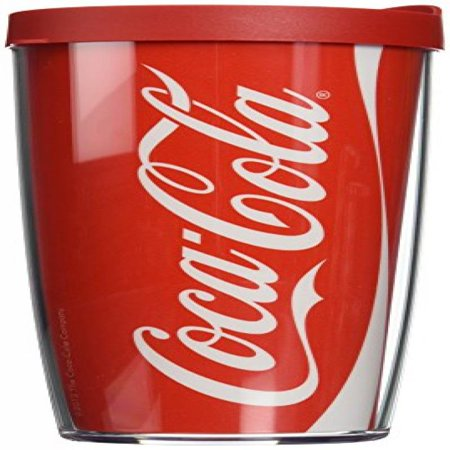 Tervis Coke Can Wrap Tumbler with Red Lid, - Coca Cola Tumbler