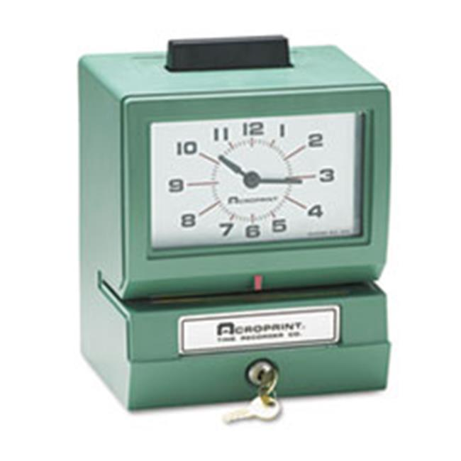 Acroprint Time Recorder 011070411 Model 125 Analog Manual Print Time Clock with Month-Date-0-12 Hours-Minutes
