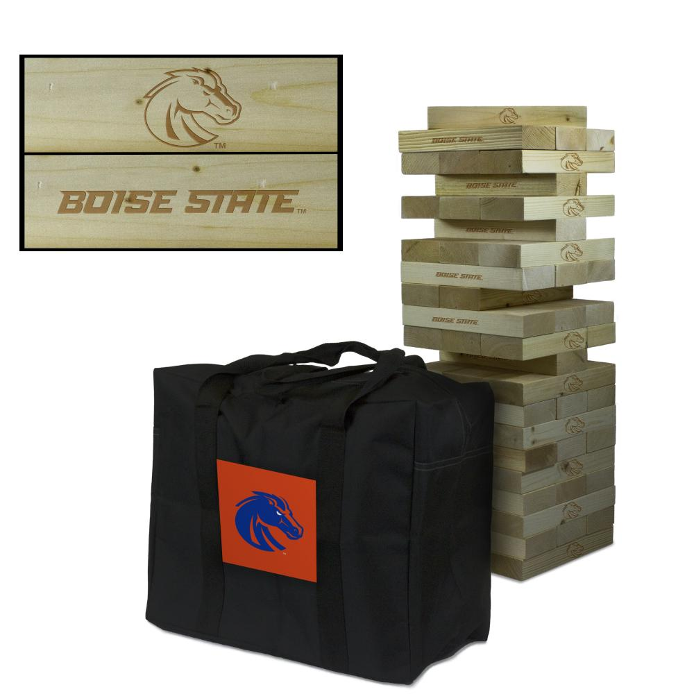 Boise State University Broncos Giant Wooden Tumble Tower Game