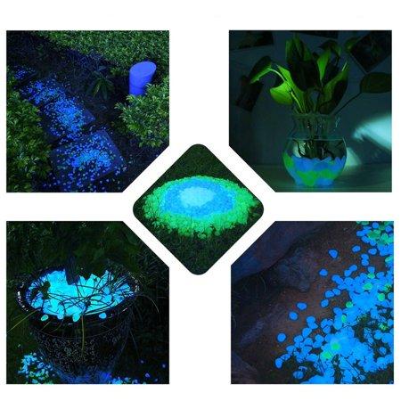 Garden Pebbles Glow Stones Rocks for Walkways Garden PathLightBlue30pcs - image 7 de 10
