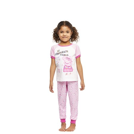 Peppa Pig Girls 2-Piece Cotton Pajama Set, Short-Sleeve Top and Jogger Pants, Peppa Pig, by Jellifish Kids, 4T - image 6 of 6