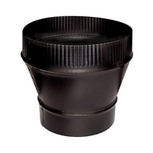 Imperial Mfg Group Usa BM0061 Black Stove Pipe Flue Increaser, 24-Ga., 6 x 7-In.