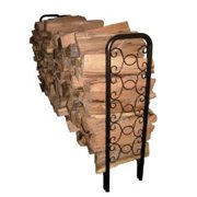 Landmann 82436 8 Foot Ornamental Scroll Log Rack