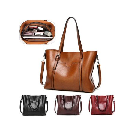 Fashion Women Elegant Large And Simple Shopping Bags Lady Leather Handbags Shoulder Bag ()