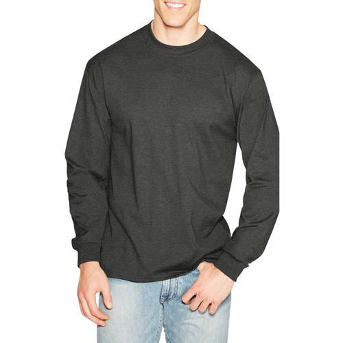 Hanes Big Men's Beefy-T Long Sleeve T-Shirt Assorted Colors