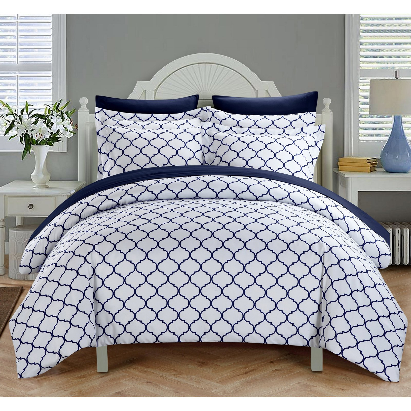 Chic Home Finlay 3 Piece Reversible Duvet Cover Set