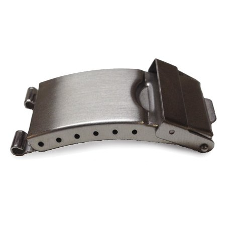 Deployment Clasp - 20mm Tri-fold Stainless Steel Deployment Clasp w/Tube & Pins