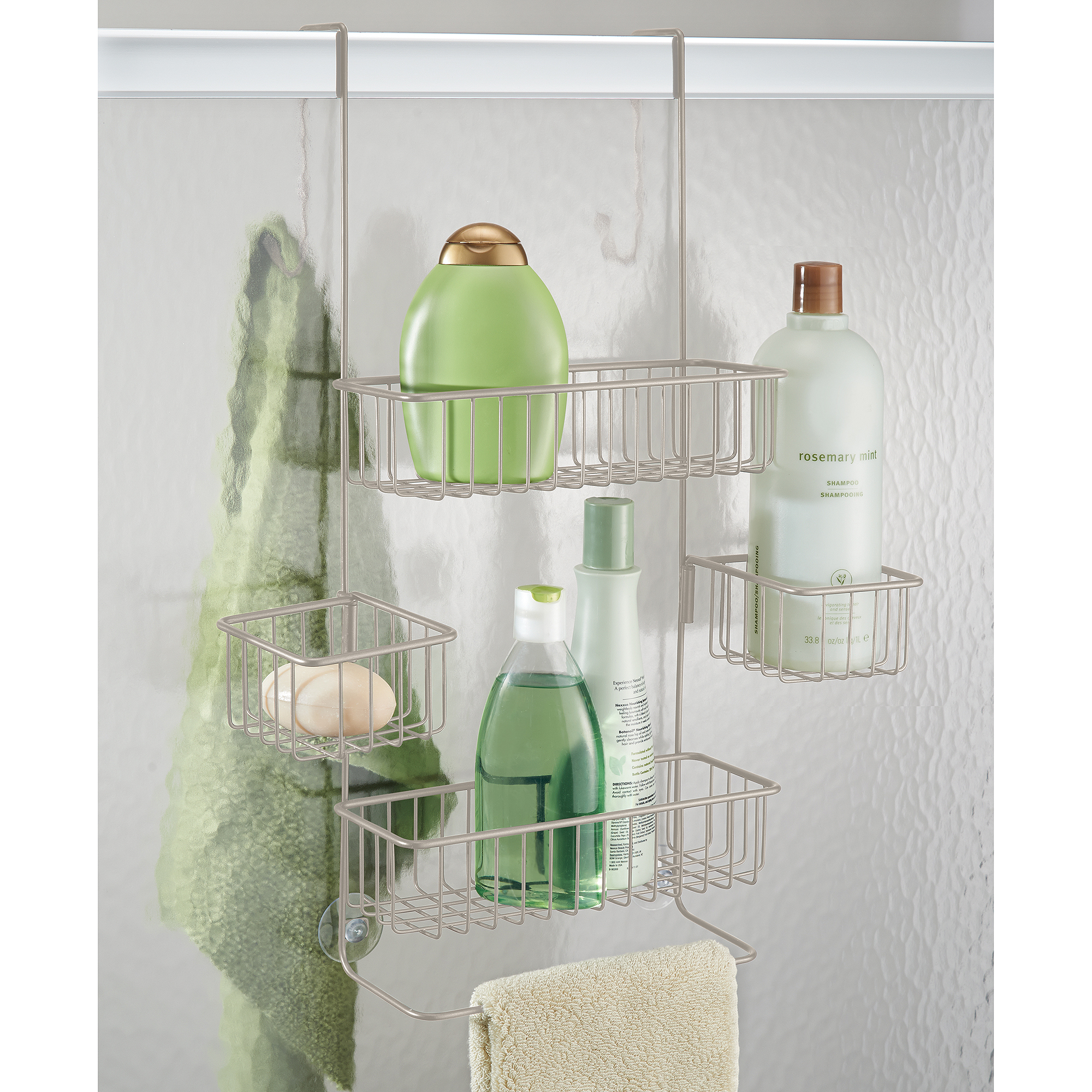 2-Piece Shower Caddy Set, White - Walmart.com