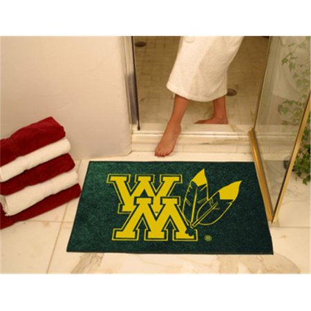 Fanmats 3525 College Of William Mary All Star Rugs 34 In X 45 In