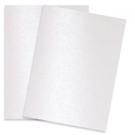 Pure Pearl White Digital - 12X18 Shimmer Metallic Card Stock Paper - 100 sheets per pack