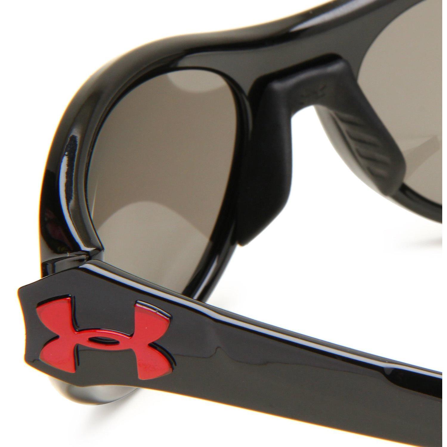 42a421e5bf Under Armour - Under Armour UA Glyde Shiny Black Frame Gray Mirror Lens  Sunglasses - Walmart.com