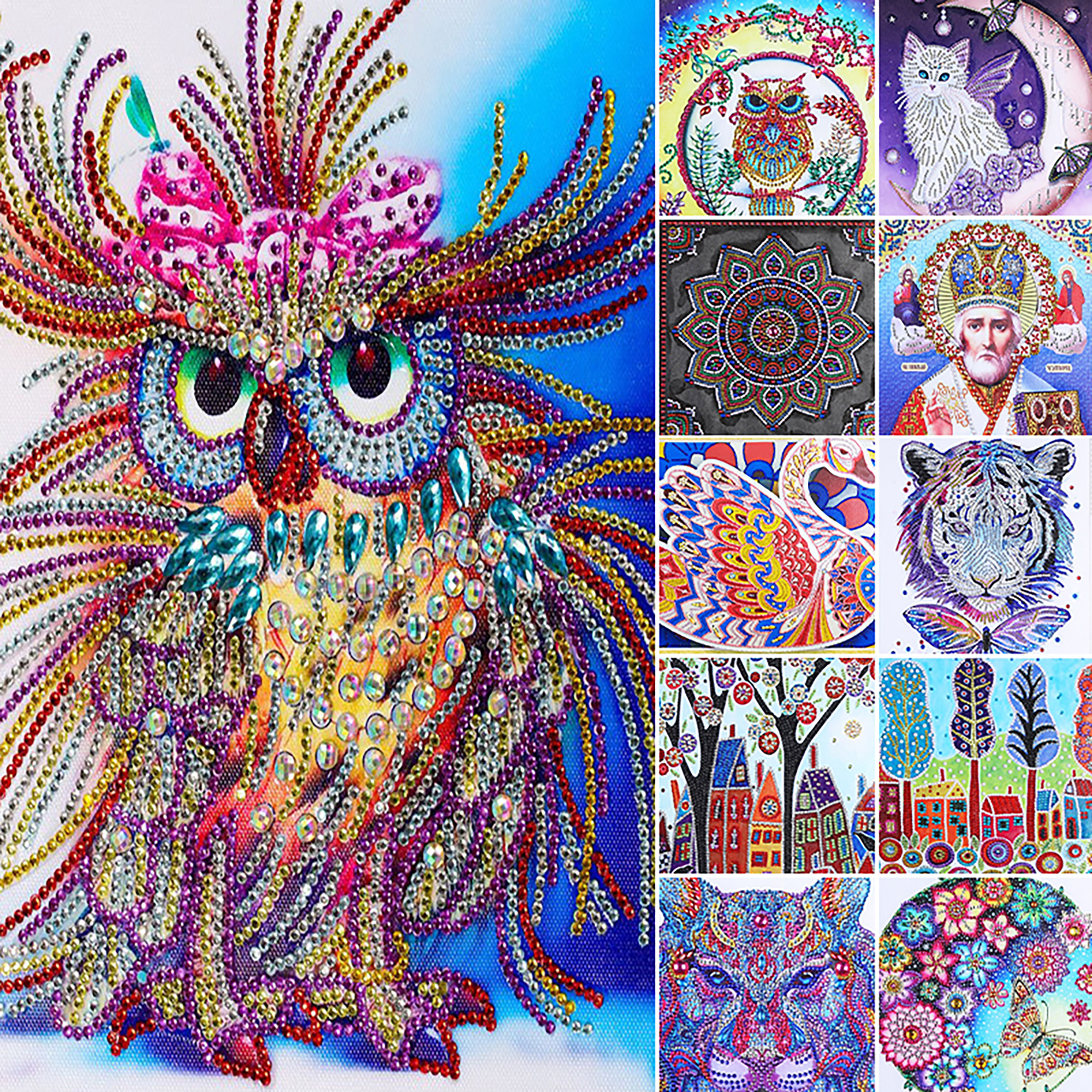 Six Color Beauty Full Drill 5D Diamond Painting Embroidery Cross Stitch Decor