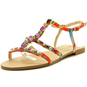 INC International Concepts Gypsiee Women  Open-Toe Canvas Multi Color