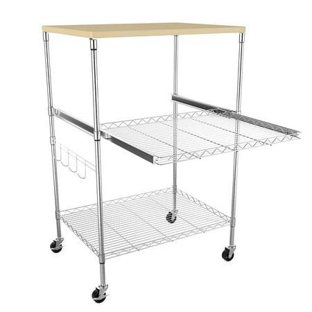 Black Friday Sales 3 Shelf Kitchen Microwave Cart Wire