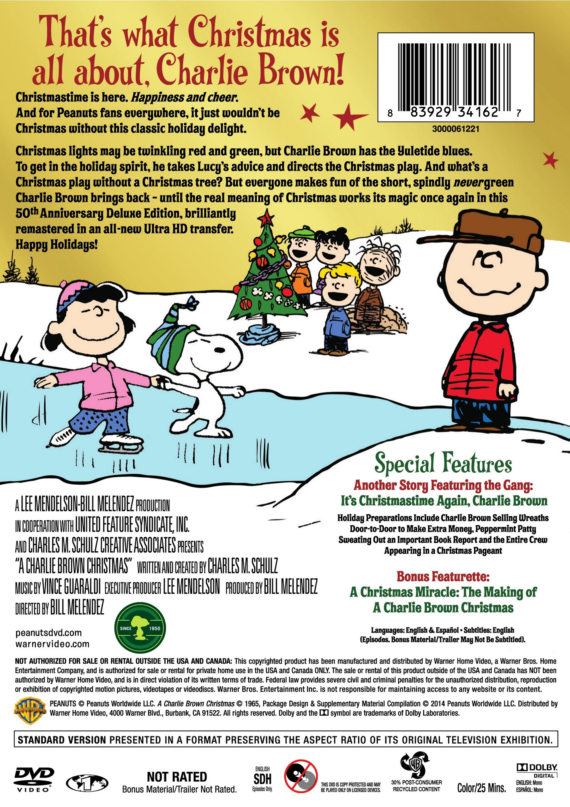 A Charlie Brown Christmas Book.A Charlie Brown Christmas 50th Anniversary Deluxe Edition Dvd
