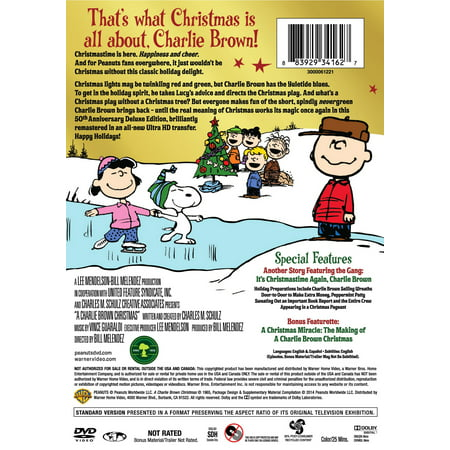 Short Christmas Play.A Charlie Brown Christmas 50th Anniversary Deluxe Edition Dvd