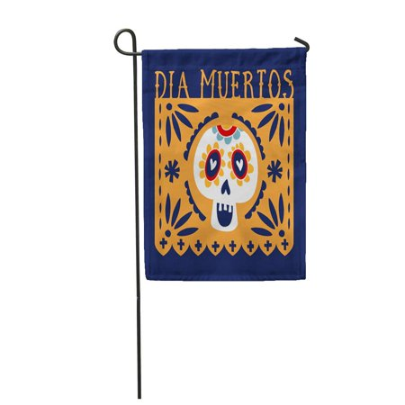 LADDKE Dia De Los Muertos Mexican Cut Party Flag Ornametal Garden Flag Decorative Flag House Banner 12x18 inch](Dia De Los Muertos Flags)