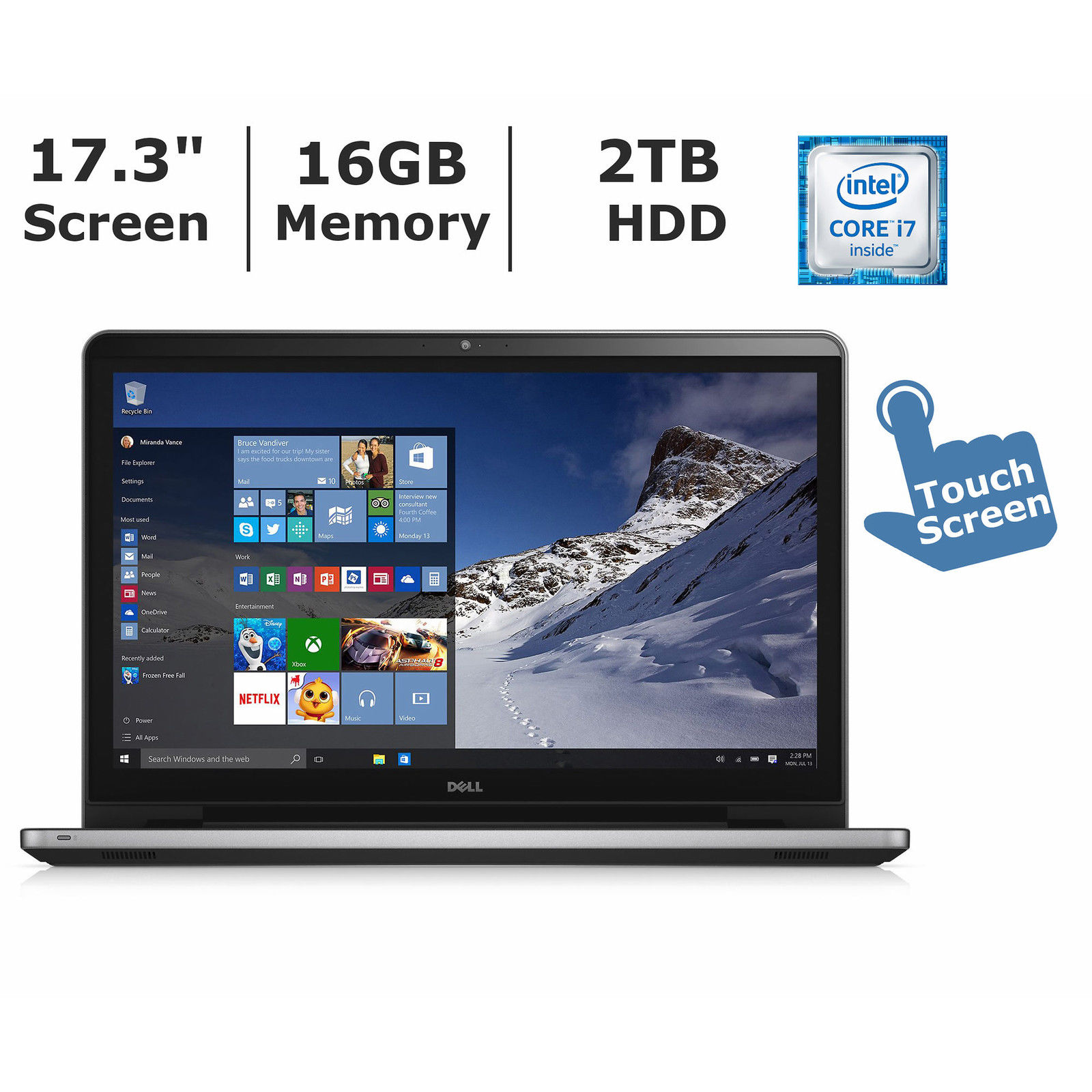 """Dell Silver 17.3"""" Inspiron FHD 5759 Laptop PC with Intel ..."""
