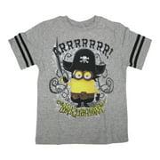 Little Boys Grey Walk The Plank Character Print Crew Neck T-Shirt 2T-7