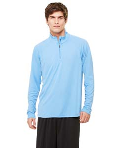 White All Sport Unisex Quarter-Zip Lightweight Pullover